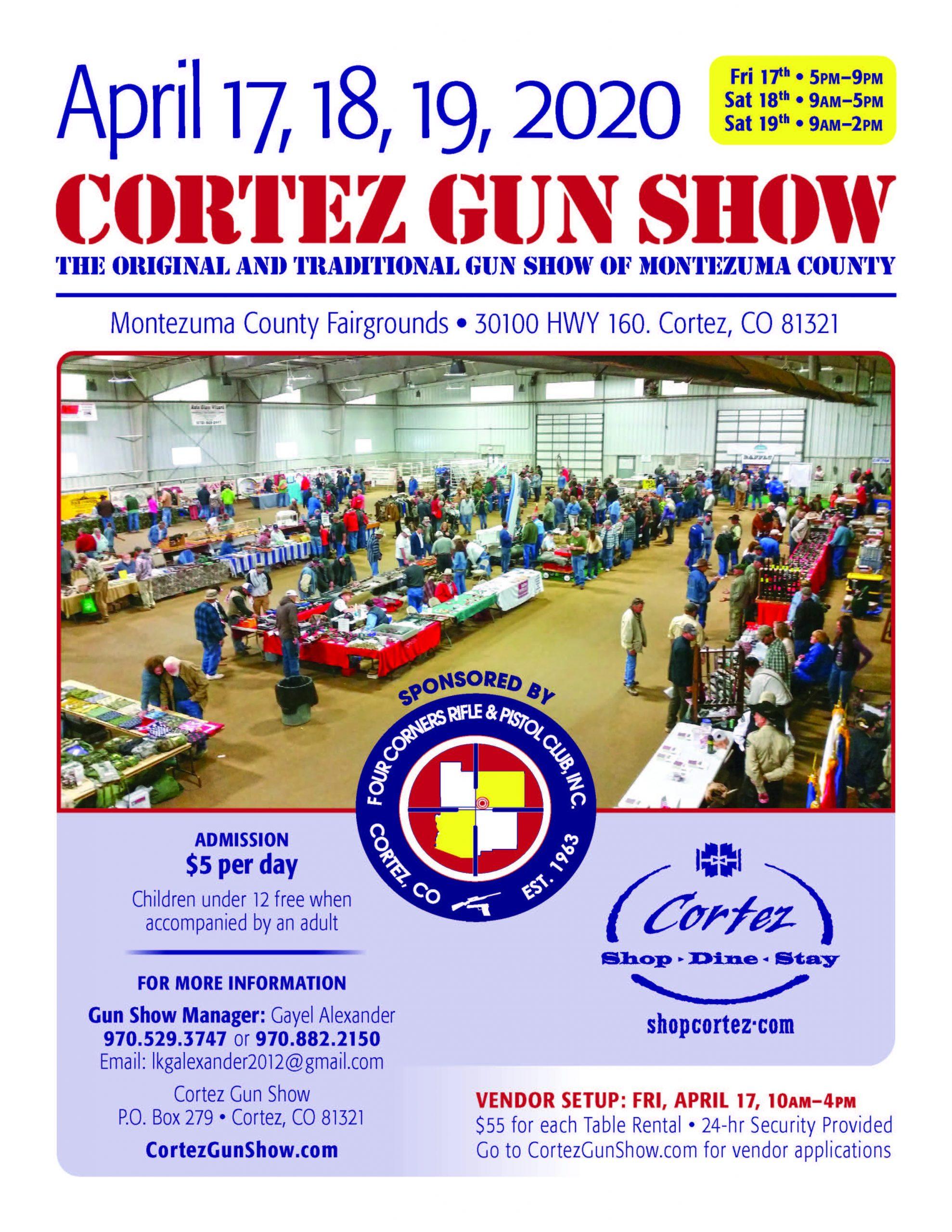 Cortez Gun Show 2020 Flyer