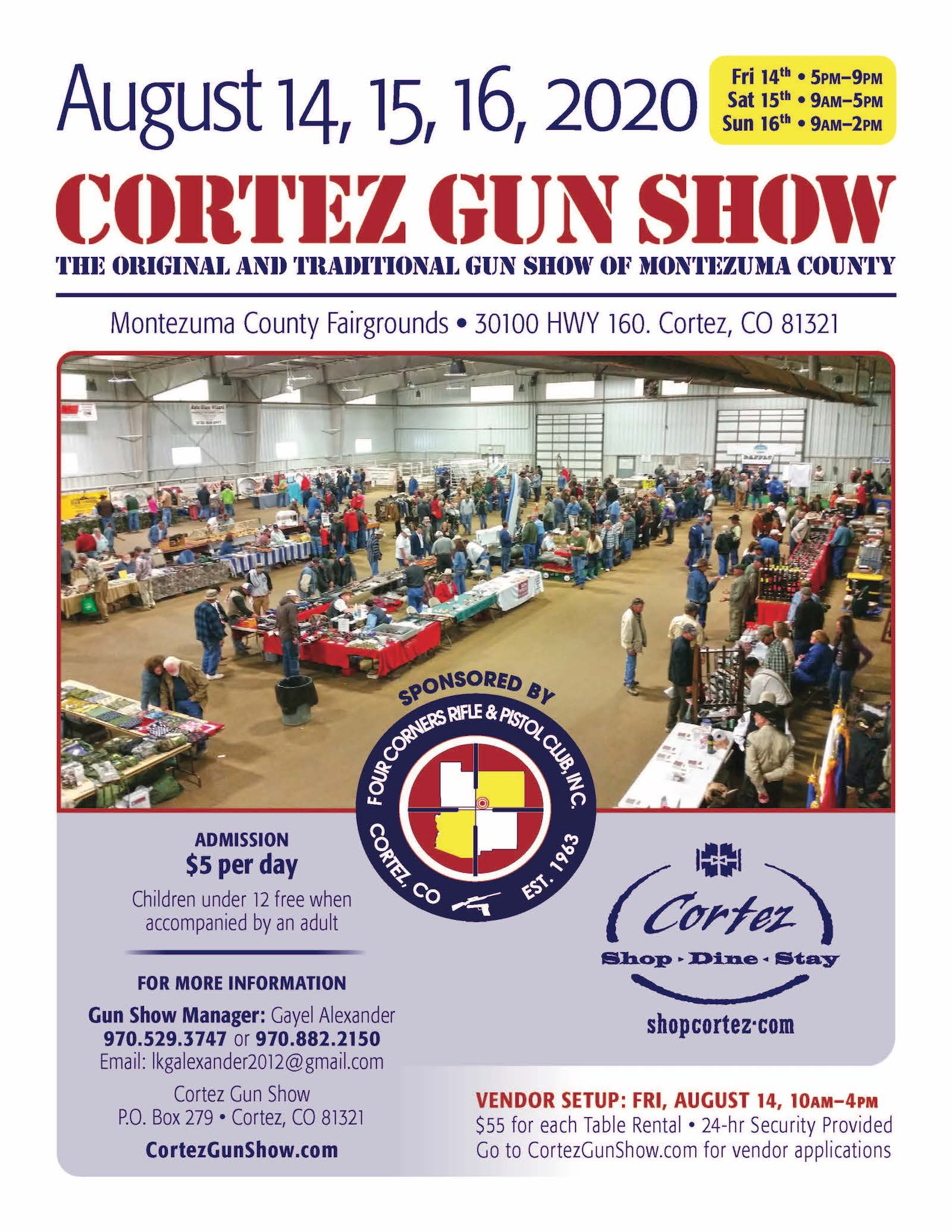 Cortez Gun Show Aug 2020 flyer