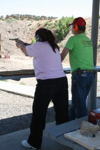 Women on Target Four Corners Rifle and Pistol Club Bonnie shooting pistol