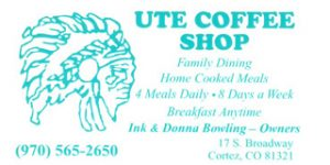 website ad Ute Coffee Shop